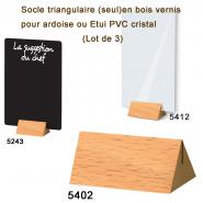 Socle triangulaire en bois vernis (lot de 3)